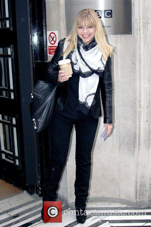 Kate Thornton outside the BBC Radio 2 studios...