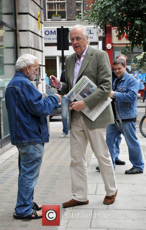 Tim Rice Outside The Bbc Radio 2 Studios 4