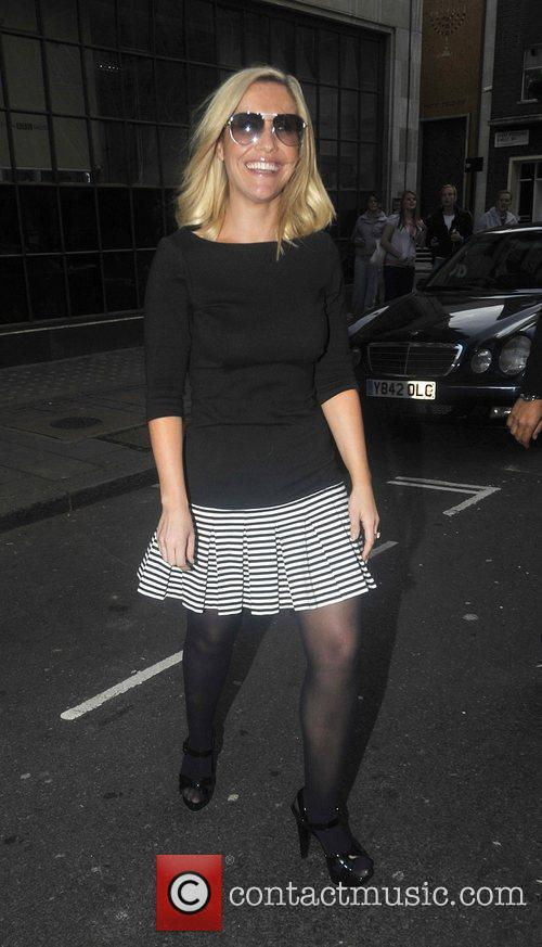 Heidi Range of the Sugababes at Radio One