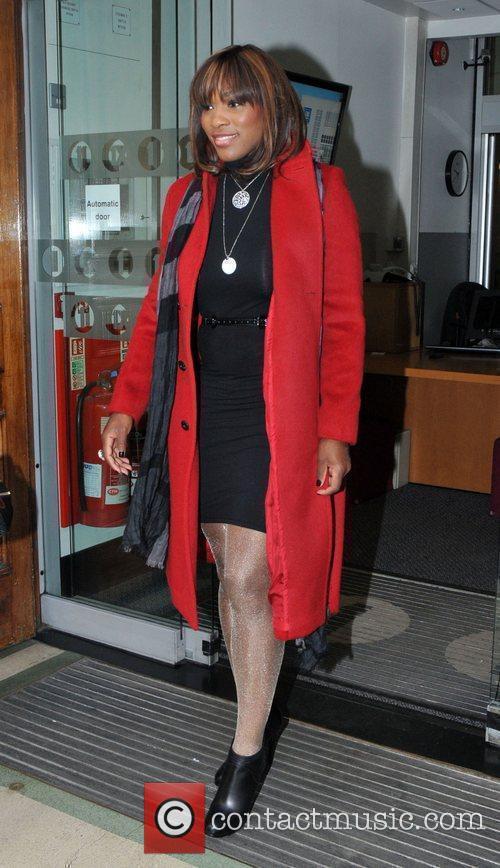 Serena Williams leaving the BBC Radio One studios...