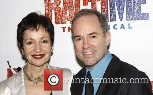 Lynn Ahrens and Stephen Flaherty Opening night after...
