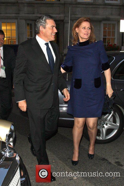 Gordon Brown and Sarah Brown Gordon and Tana...