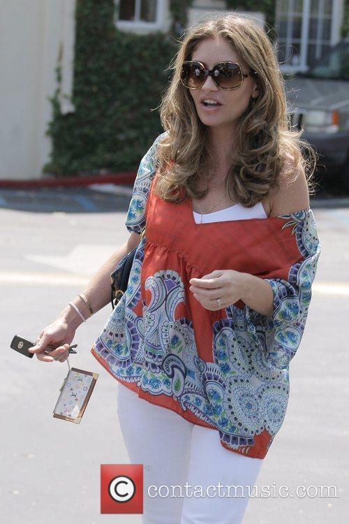 Rebecca Gayheart leaving Cafe Med at Sunset Plaza...