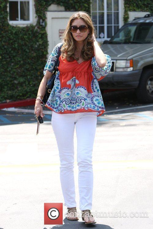 Rebecca Gayheart leaving Cafe Med at Sunset Plaza...