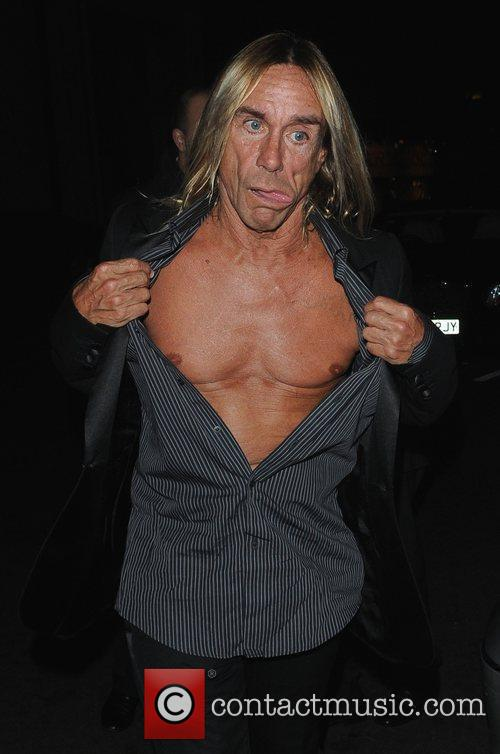 Iggy Pop exposing his chest The Red Room...