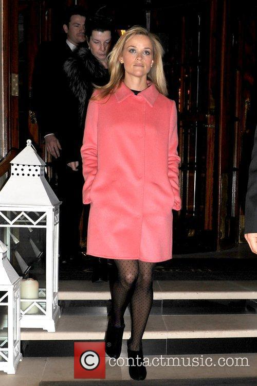 Reese Witherspoon  departs her hotel wearing a...