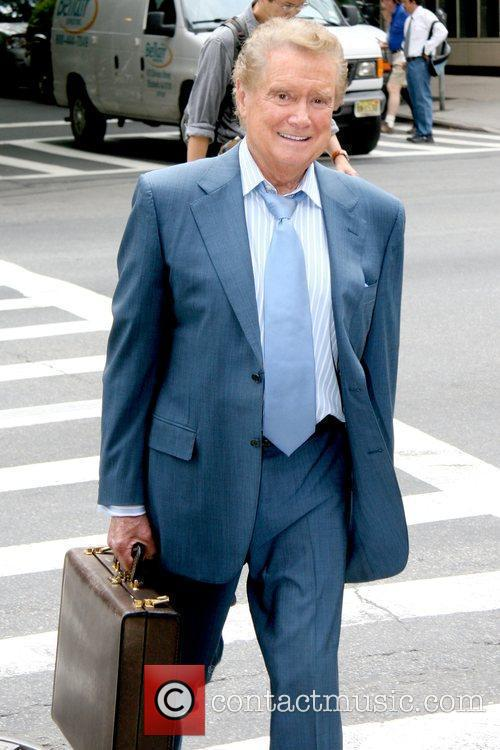 Regis Philbin talk show host out and about...