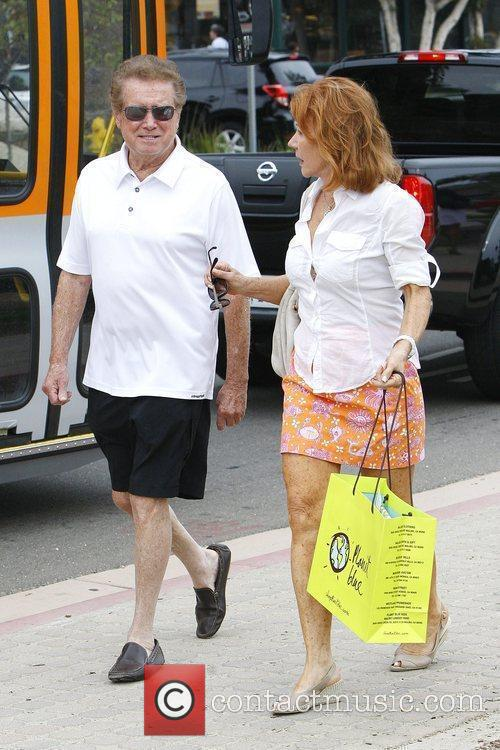 Regis Philbin and wife Joy Philbin out shopping...