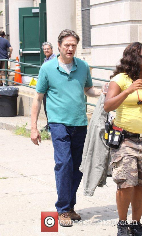 Chris Cooper on the set of her new...