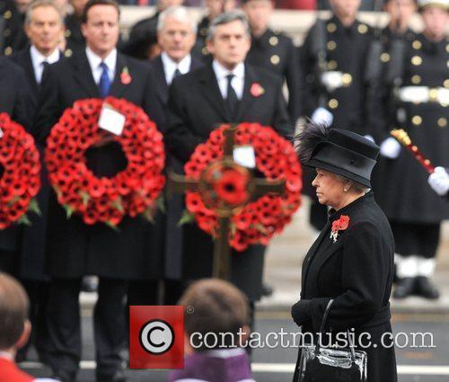 The Queen Remembrance Sunday celebrations held at the...