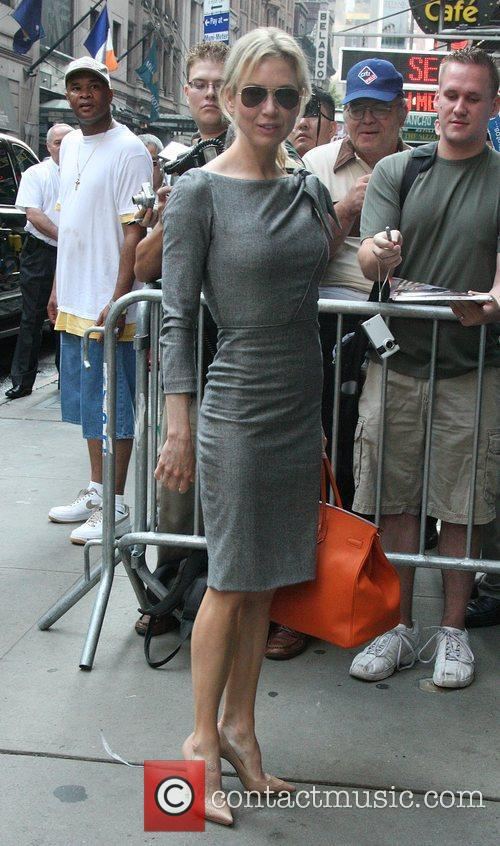 Arrives for an appearance on 'Good Morning America'...