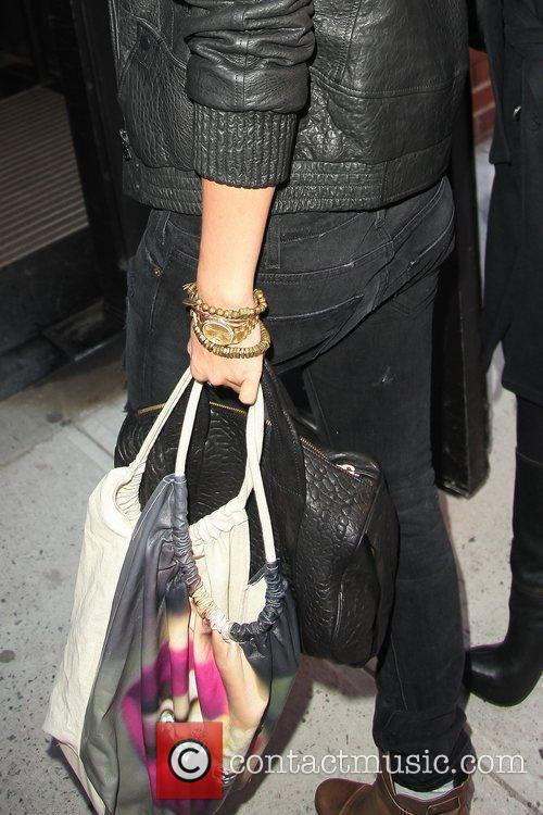 Rihanna arrives at Milk in Manhattan's Meatpacking District...