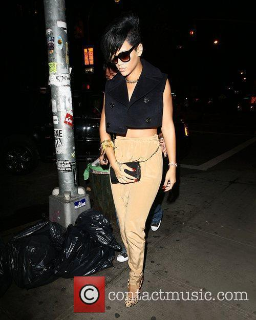 Rihanna  heading to a Bar in Downtown...