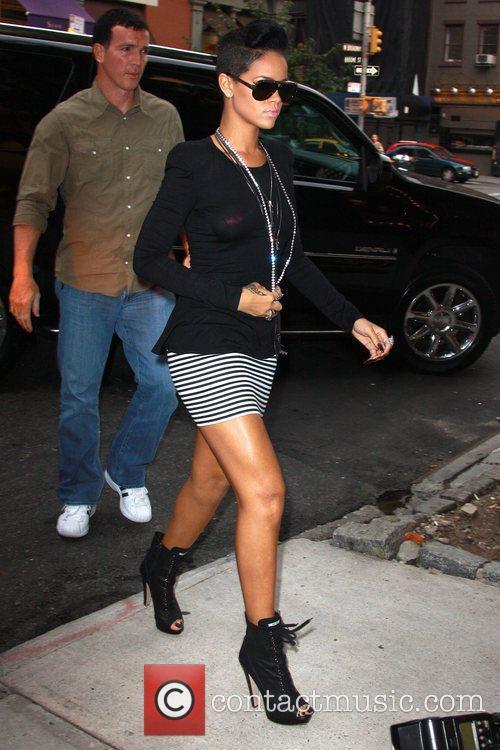 Rihanna arriving at Cipriani Wall Street
