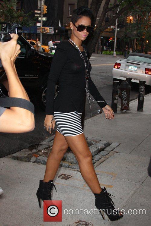Rihanna arriving at Cipriani Wall Street New York...