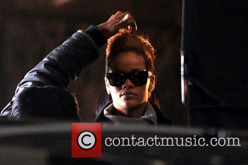 Rihanna on the set of her new music...