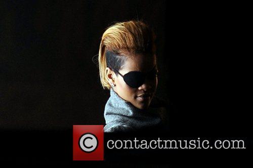 Rihanna wears an eyepatch on the set of...