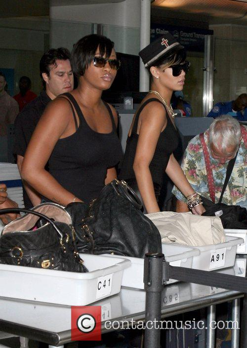 Rihanna  arrives at LAX airport to catch...