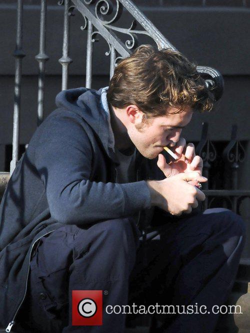 Robert Pattinson on the set of his new...