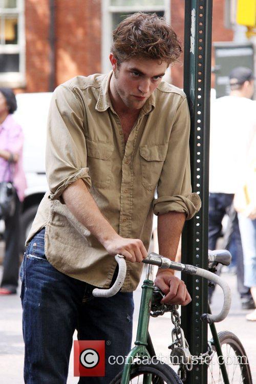 Robert Pattinson  on the set of his...