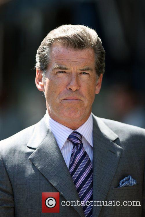 Pierce Brosnan on the set of his new...