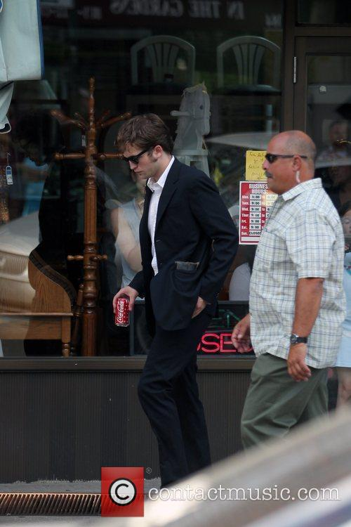 Robert Pattinson on the set of his new...