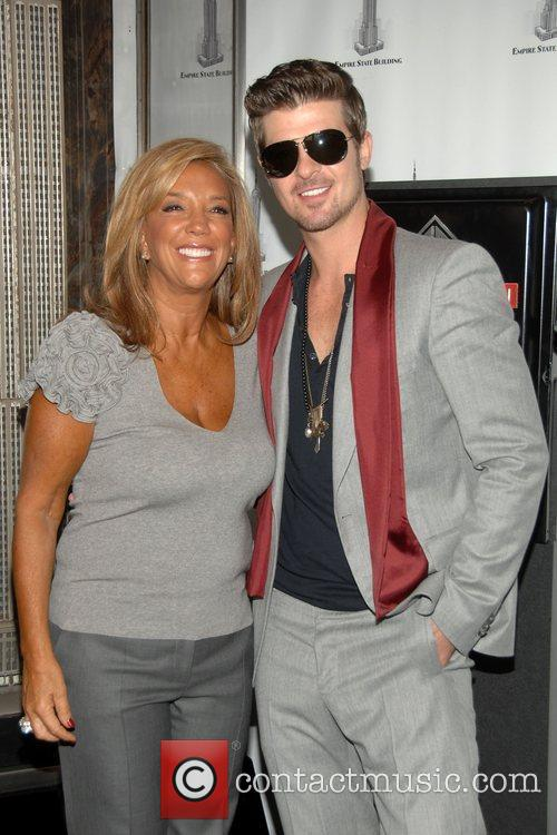 Denise Rich and Robin Thicke light the Empire...