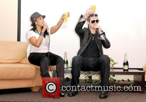 Radio DJ Vanessa James and Robin Thicke Robin...