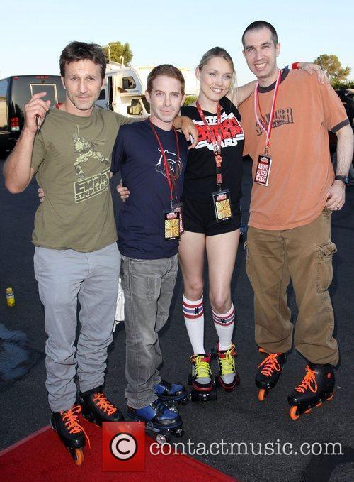 Breckin Meyer, Seth Green, Clare Grant and Matt...