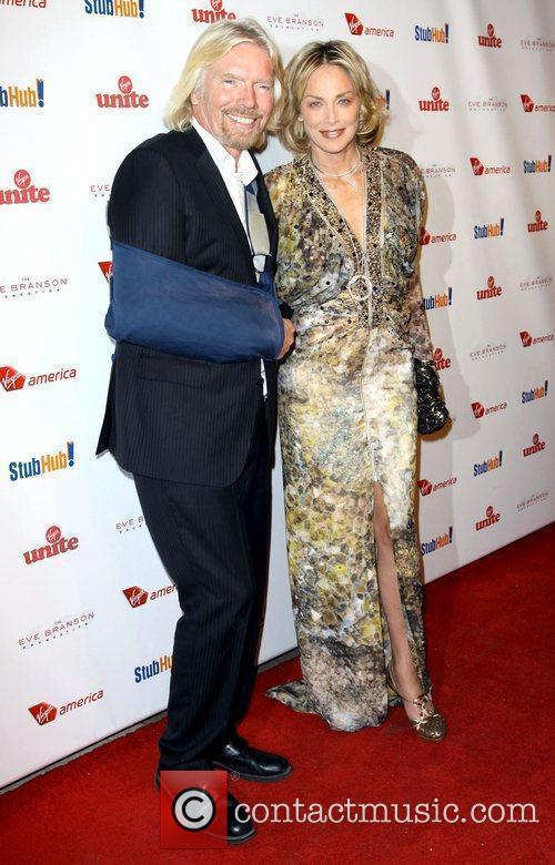Richard Branson, Sharon Stone