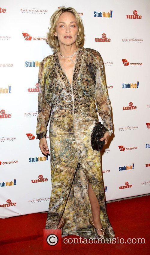 Sharon Stone and Richard Branson 2