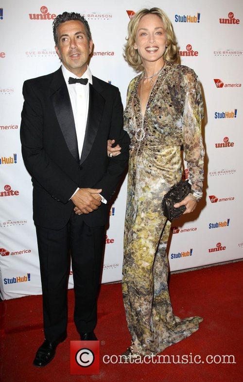 Sharon Stone and Richard Branson 8
