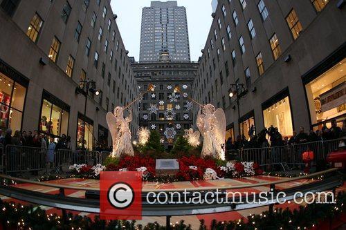 Atmosphere The 77th Rockefeller Center Christmas tree lighting...
