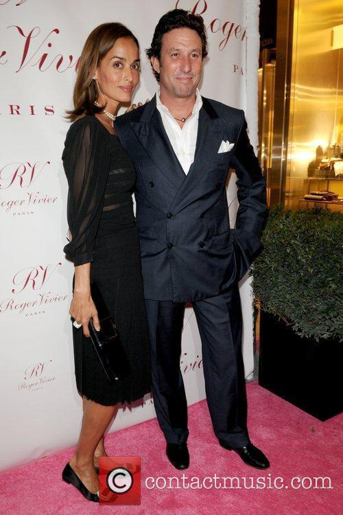 Leticia Grendene and Miky Grendene Roger Vivier Boutique...