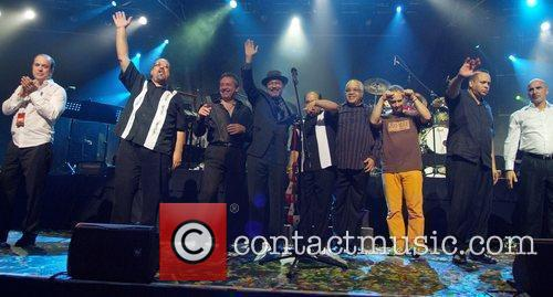 Ruben Blades performing on stage at the James...