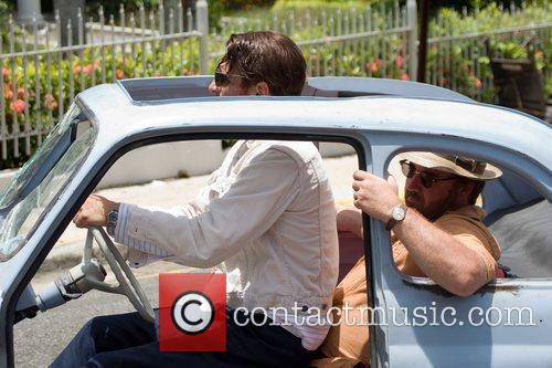 On the set of 'The Rum Diary' based...