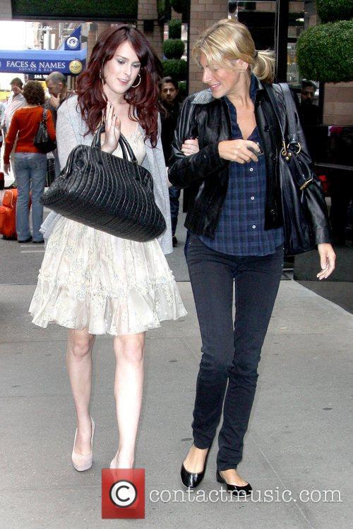 Rumer Willis 'Sorority Row' star leaving her Manhattan...