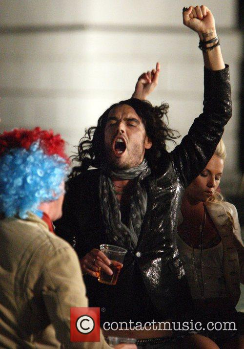 Russell Brand moments before a member of public...