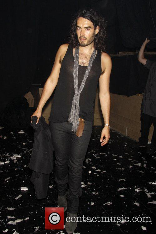 Russell Brand Backstage at the Off-Broadway show 'Fuerza...