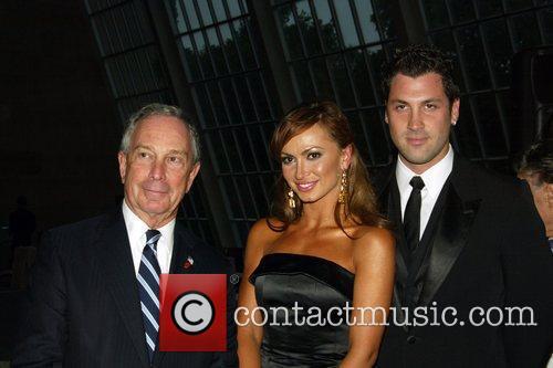 Mayor Michael Bloomberg, Karina Smirnoff and Maksim Chmerkovskiy...