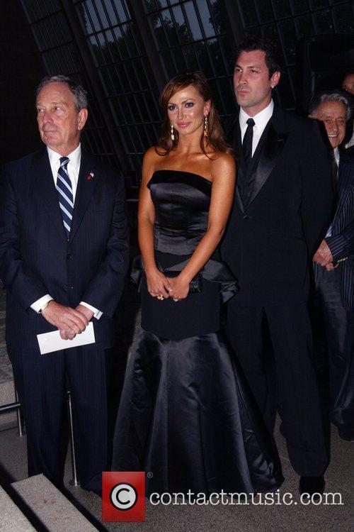 Mayor Michael Bloomberg, guest, Karina Smirnoff and Maksim...