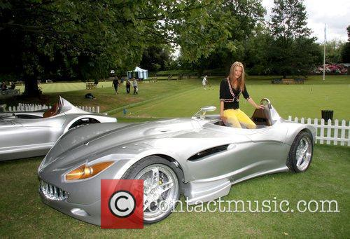 Rissy Mitchell sits in the Veritas supercar Salon...