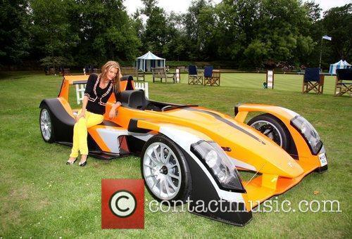 Rissy Mitchell with the Caparo T1 Salon Prive...