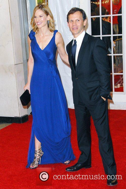 Hilary Swank and guest The Museum of The...