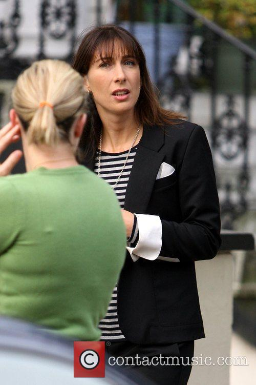 Samantha Cameron after dropping her son off at...