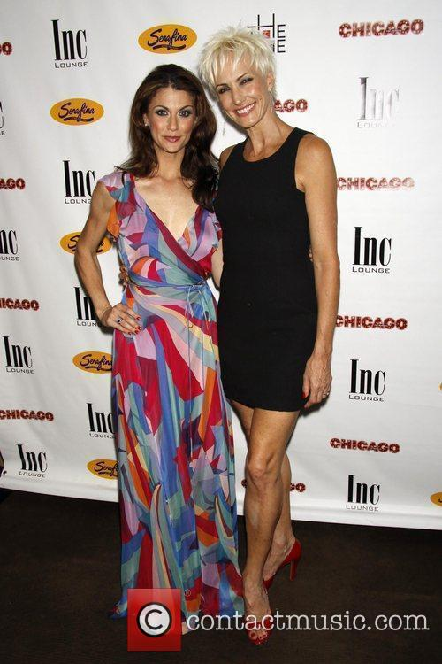 Samantha Harris and Amra-Faye Wright After party celebrating...