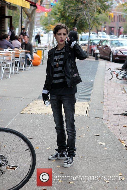Samantha Ronson walking through Soho New York City,...