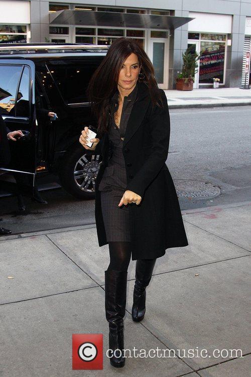 Sandra Bullock arriving at her hotel after visiting...