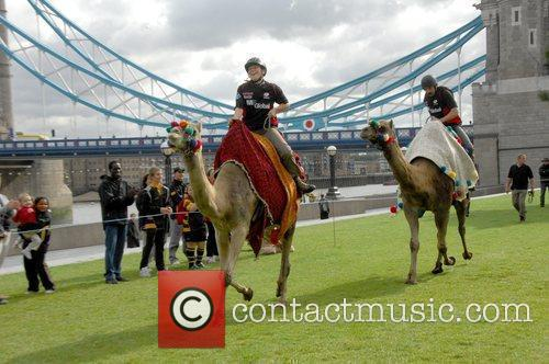 Saracens Rugby Club Hosts A Camel Race In Potters Fields Park 3