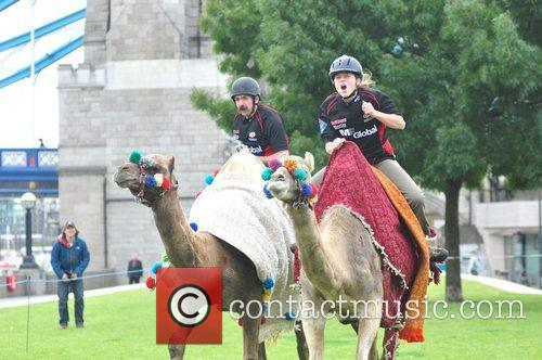 Saracens Rugby Club Hosts A Camel Race In Potters Fields Park 2